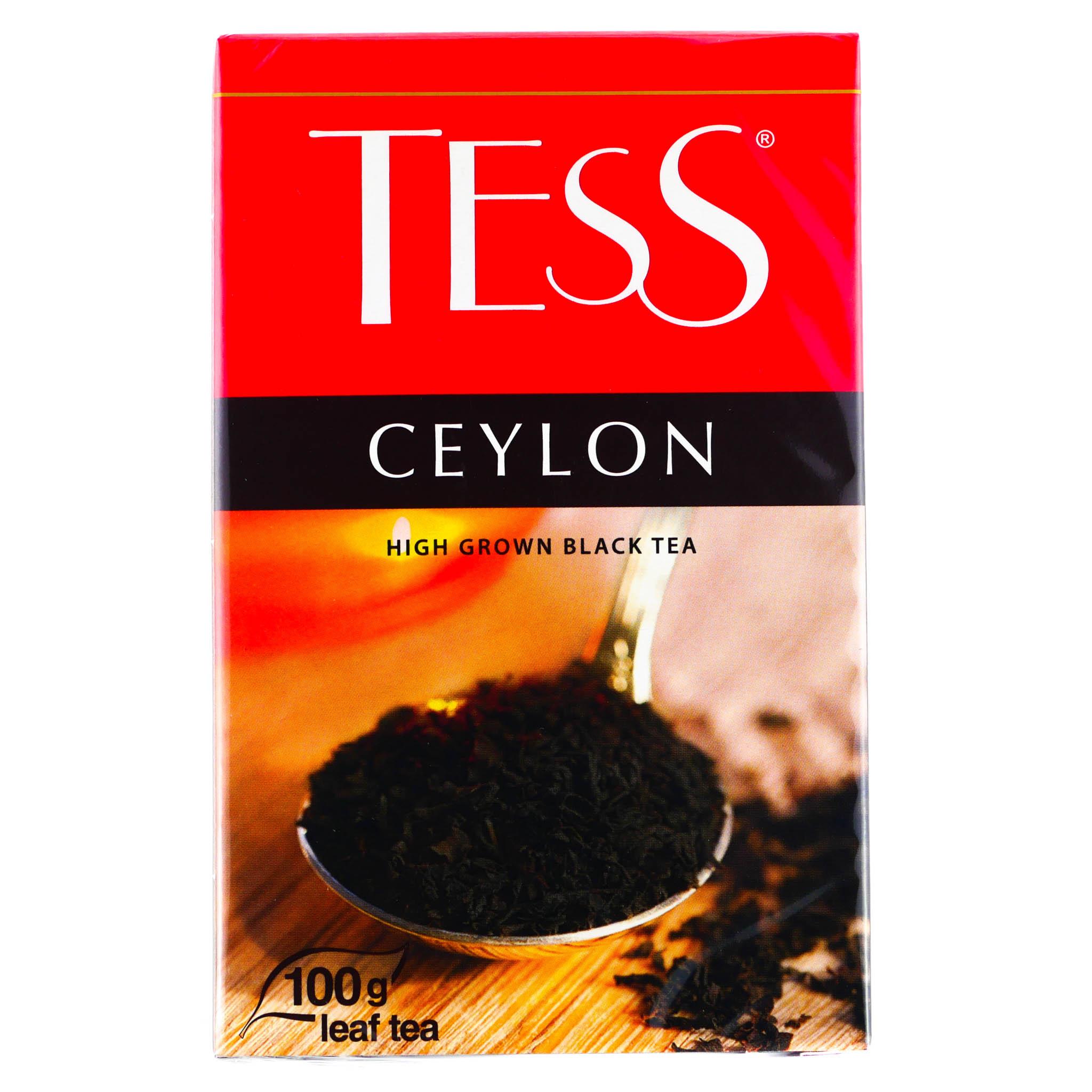 чай тесс черный листовой